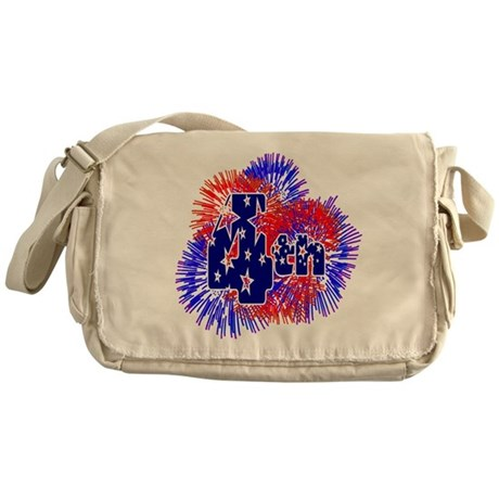 Fourth of July Messenger Bag