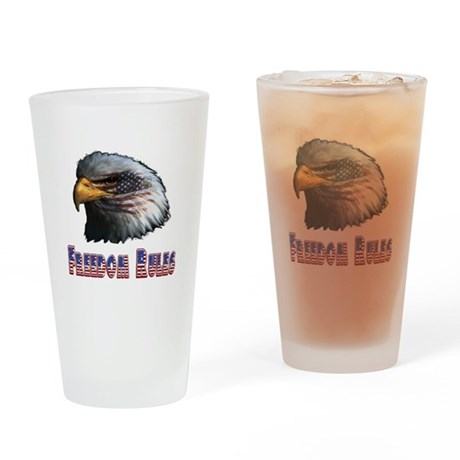Freedom Rules Eagle Drinking Glass