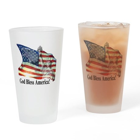 God Bless America! Drinking Glass