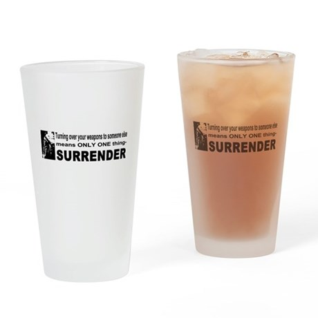 Anti Gun Control Drinking Glass