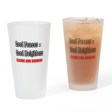 Anti Illegal Immigration Drinking Glass