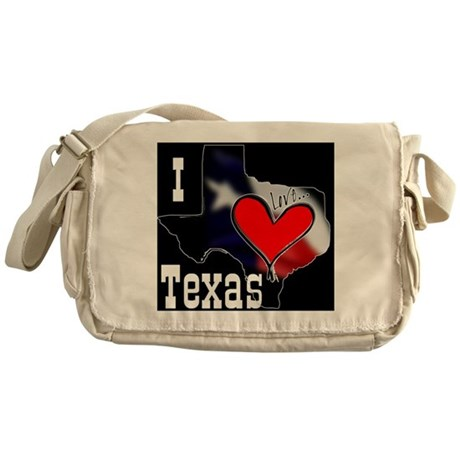 I Love Texas Messenger Bag