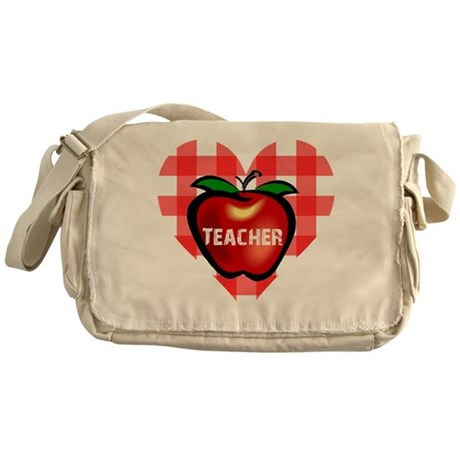 Teacher Heart Apple Messenger Bag