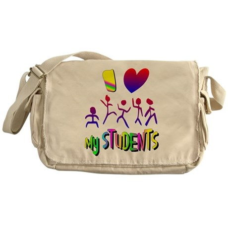 I Love My Students Messenger Bag
