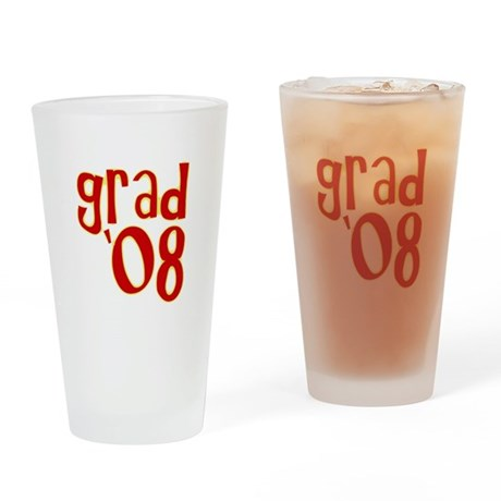 Grad 2008 - Red - Drinking Glass