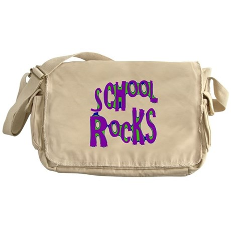 School Rocks - Purple - Messenger Bag