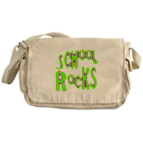 School Rocks - Lime Messenger Bag