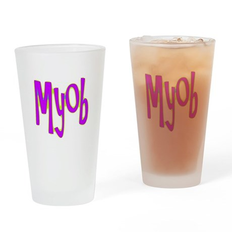 MYOB Drinking Glass