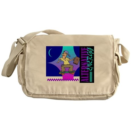 Skateboard Alternate Energy Messenger Bag
