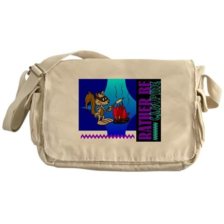Rather Be Camping Messenger Bag
