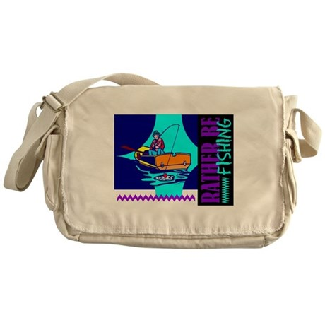 Rather Be Fishing Messenger Bag