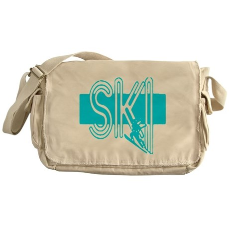 Ski Powder Blue Messenger Bag