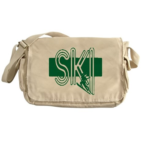 Ski Green Messenger Bag
