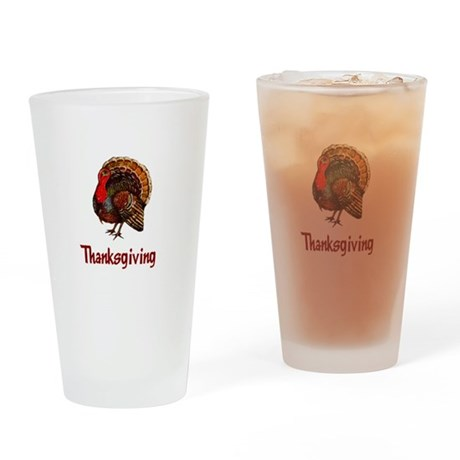 Thanksgiving Turkey Drinking Glass