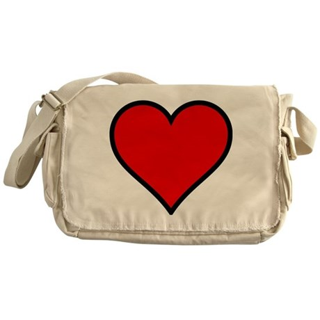 Simple Heart Messenger Bag