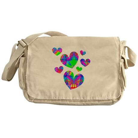 Kaleidoscope Hearts Messenger Bag