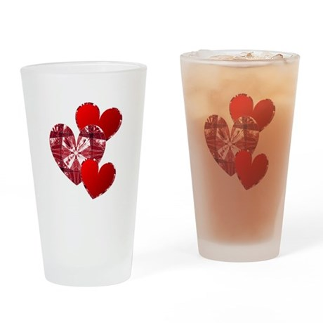 Country Hearts Drinking Glass