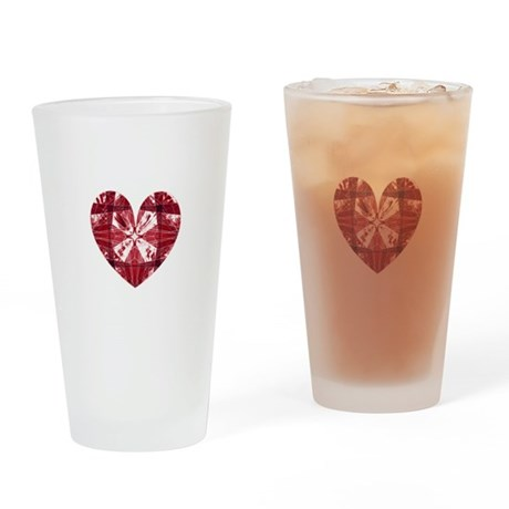 Kaleidoscope Heart Drinking Glass