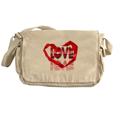 Abstract Love Heart Messenger Bag