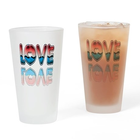 Valentine Love Drinking Glass