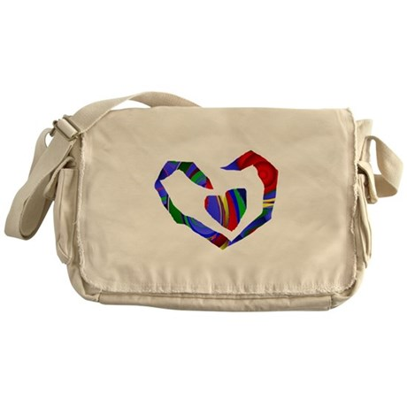 Abstract Heart Messenger Bag