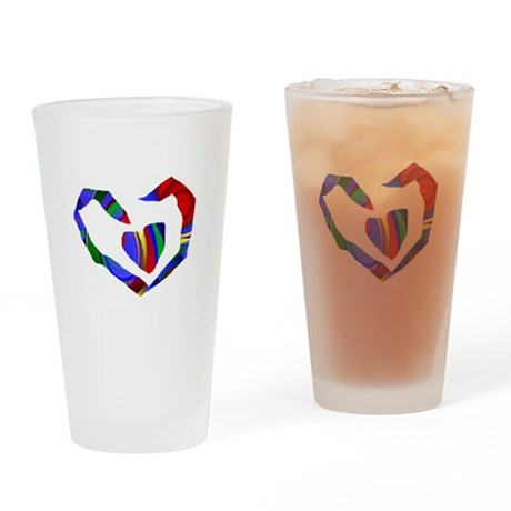 Abstract Heart Drinking Glass
