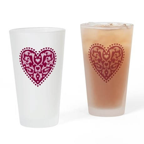 Fancy Heart Drinking Glass