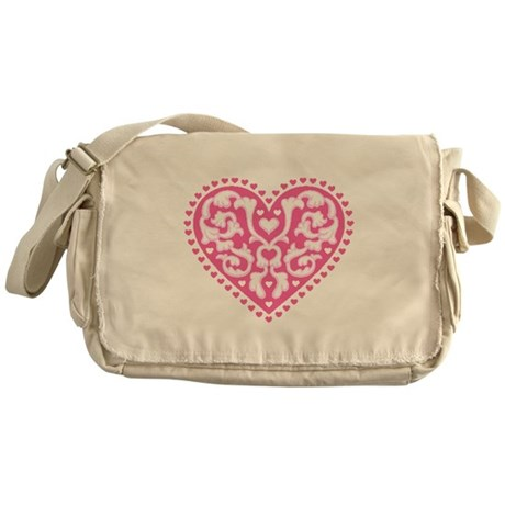 Fancy Heart Messenger Bag