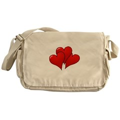 Three Hearts Messenger Bag