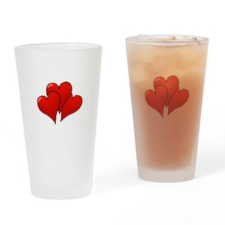 Three Hearts Drinking Glass