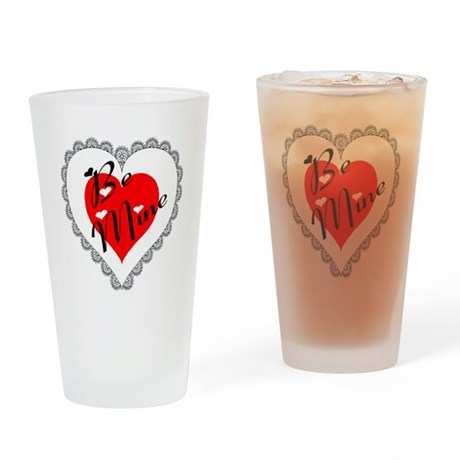 Lacy Heart Drinking Glass