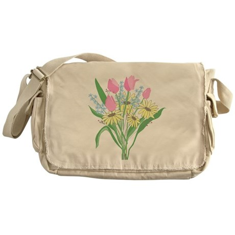 Valentine Bouquet Messenger Bag