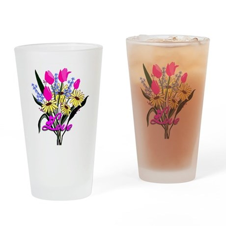 Love Bouquet Drinking Glass
