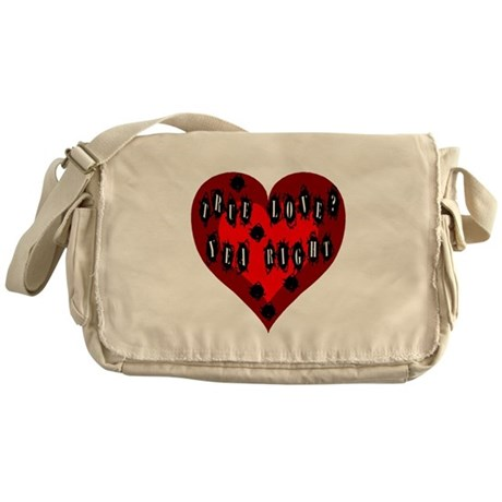 Holes in Heart Messenger Bag