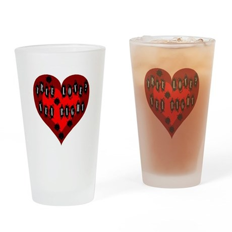 Holes in Heart Drinking Glass