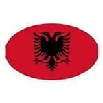 Albania Sticker (Oval 50 pk)