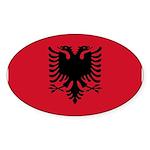Albania Sticker (Oval 50 pk)