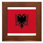 Albania Framed Tile