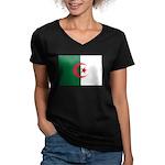 Algeria Women's V-Neck Dark T-Shirt