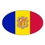 Andorra Sticker (Oval 50 pk)