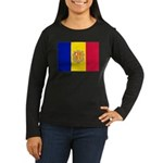 Andorra Women's Long Sleeve Dark T-Shirt