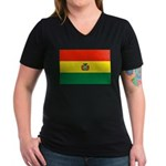 Bolivia Women's V-Neck Dark T-Shirt