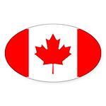 Canada Sticker (Oval 50 pk)