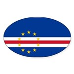 Cape Verde Sticker (Oval 50 pk)