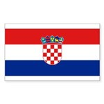 Croatia Sticker (Rectangle 50 pk)