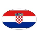 Croatia Sticker (Oval 10 pk)