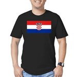 Croatia Men's Fitted T-Shirt (dark)