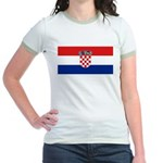 Croatia Jr. Ringer T-Shirt