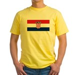 Croatia Yellow T-Shirt