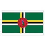 Dominica Sticker (Rectangle 10 pk)